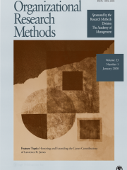 Organizational Research Methods Journal Subscription