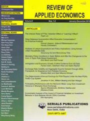 Review of Applied Economics Journal Subscription