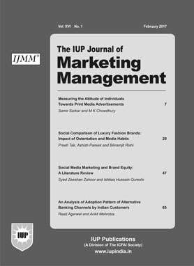 The IUP Journal of Marketing Management Journal Subscription