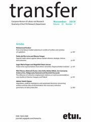 Transfer: European Review of Labour and Research Journal Subscription